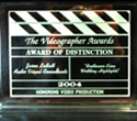 Videographer Award awarded to Audio Visual Consultants Post Production Manager