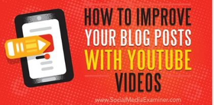 How to Improve Your Blog Posts with YouTube Videos