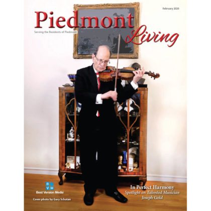 AVC's client, violinist Joseph Gold made the cover of Piedmont Living